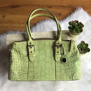 Green Dooney & Bourke crocodile leather purse EUC